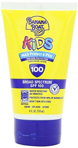 Banana Boat Kids Max Protect & Play Broad Spectrum Sunscreen SPF 100 4 oz