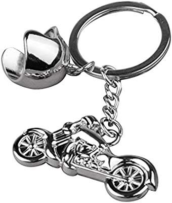 Leezo - Llavero de Metal para Motocicleta, Incluye Bolsa para Monedero, Accesorios de Regalo