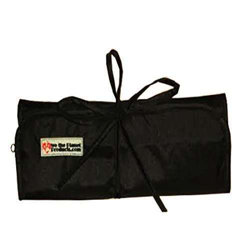 Out Tie Peace - Travel Roll up Bag for Jewelry, Toiletries & Cosmetics with 6 Zippered Pockets for Storing, Organizing & Protecting | Premium 210d/210t Nylon with Hanging Hook