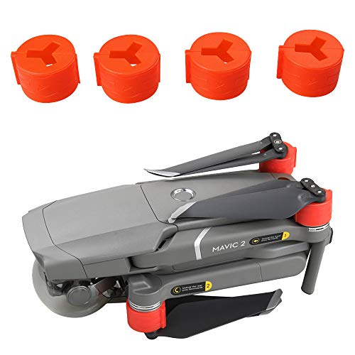 Cheap Sinwo 4PCS Silicone Motor Cover Caps Dust Cover Spare Parts Motor Protection for DJI Mavic 2 Drone (Red)