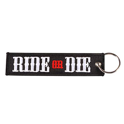 Pop Keychain - Ride or Die Motorcycles and Cars Porte Emboridery Keychains Keytag Llavero