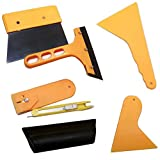7 Pcs Window Tint Tool Kit for Auto Film Tinting Squeegee Razor Blade Scraper Value Set