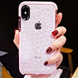Software : Compatible for iPhone X/XS Case Girls Women Cute Clear Cover with Diamond Pattern Design Slim Soft TPU Protective Shell Pretty Fashion Girly Phone Case Compatible iPhone X/XS (Pink)