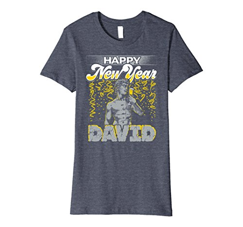 Womens Statue of David New Years Shirt Florence Italy Premium Tee Small Heather - Statues In Florence