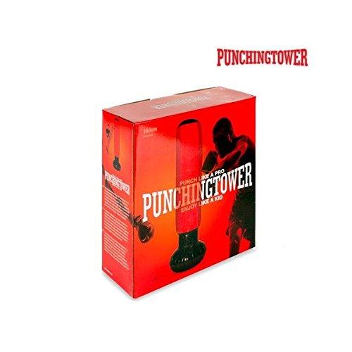 Rosso//Nero Apolyne Punching Tower Sacco da boxe da pavimento con pompa Taglia unica