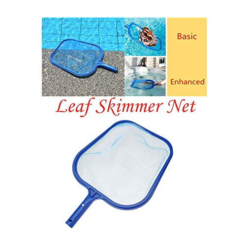 Wanzi2 Swimming Pool Professional Leaf Rake Mesh Frame Net Skimmer Cleaner Swimming Pool Spa Spoon Net Tool (Blue)