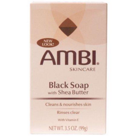 AmbiブラックSoap with Shea Butter 3.50 Oz ( Pack of 6 ) WLM B01F8YOGMU