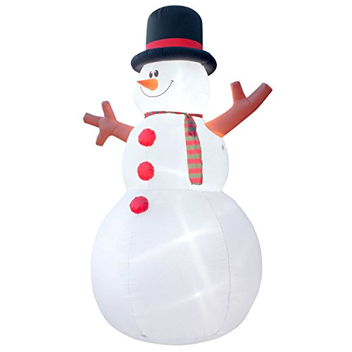 Holidayana Christmas Inflatable Giant 15 Ft. Snowman Inflatable Featuring Lighted Interior / Airblown Inflatable Christmas Decoration With Built In Fan And Anchor Ropes by Holidayana (Image #2)