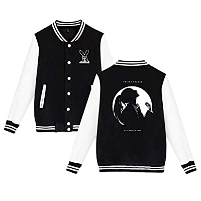 Baseball Uniform Jacket Sport Coat, Aria-na Dangerous Woman Gran-de Cotton Sweater for Women Men Boy Girls