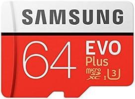 Samsung EVO Plus Grade 3, Class 10 64GB MicroSDXC 100 MB/S Memory Card