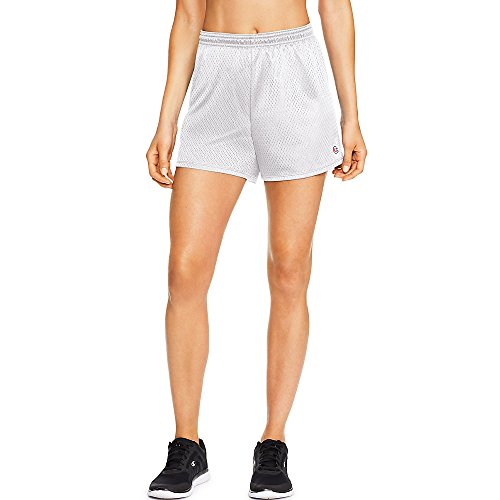 (Champion Women`s Mesh Short White)