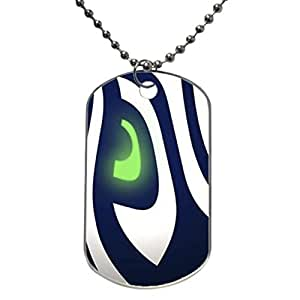 Seattle Seahawks design personlized style dog tag pet tag Necklaces pendant Bead Chain, Dog Tag Size 1.3X2.2X0.1 inches in Diameter