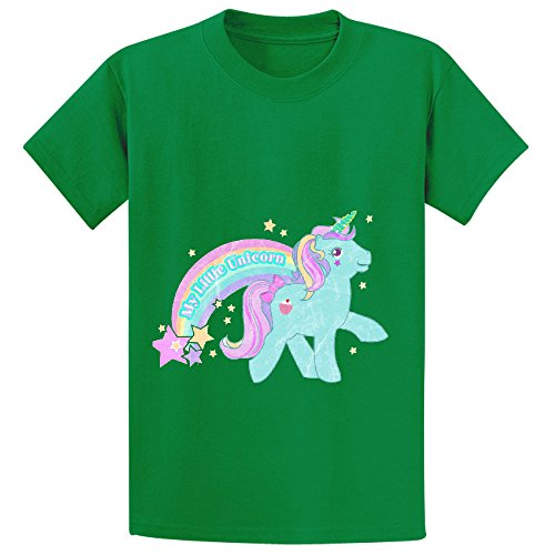 Price comparison product image Chas My Little Pony Unicorn Teen Crew Neck Print Tee Green