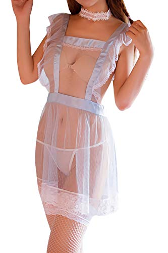 3bd8a3006c3 Mflying Women s Sexy Girl Cosplay Maid Lingerie Apron Set - Buy ...