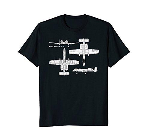 Mens A-10 Warthog Military Aircraft T-Shirt 3XL Black (Warthog Usaf A10)