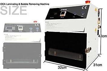 mabelstar OCA al vacío máquina para plastificar + compresor de aire + bomba de vacío Oilless para pantalla LCD de reparación de teléfonos/reparar: ...