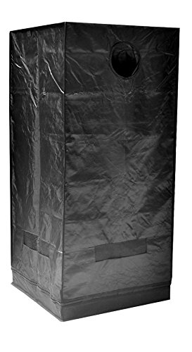 """41qZK7dI5EL - Grow Tent Indoor 2x2 Feet Not Include LED - Small Reflective Mylar Hydroponic/Hydro Waterproof Seedling Plant Growing Room for Grow Tents, Black 24""""x24""""x56"""""""