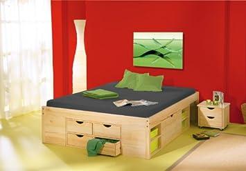 Cama funcional Claas 140 x 200 cm con somier: Amazon.es ...