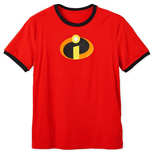 Disney Incredibles Logo Ringer T-Shirt for Adults Size Ladies 2XL Multi