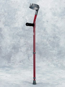 Walk Easy 490 Adult forearm crutches adjustable (pair) (Purple) by Orthotape (Image #1)