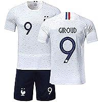 Rying Maillots de Football Enfants de France Soccer Jersey 2018 Coupe du Monde l'équipe France 2 Étoiles Football T-Shirt et Short