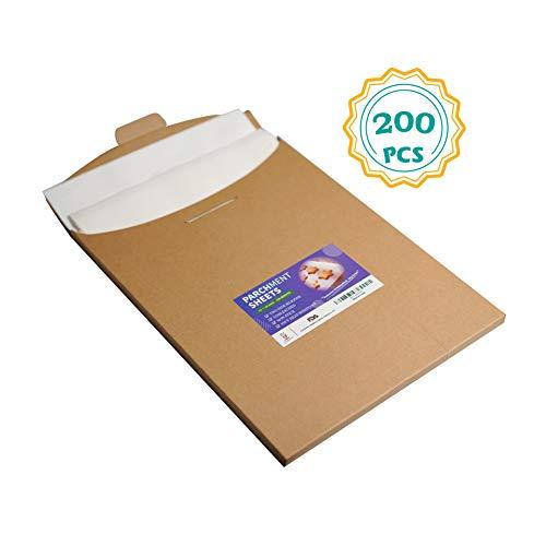 Katbite Parchment Paper Sheets 200, 12x16 Inch Parchment Sheets for Baking Cookies, Bread, Meat
