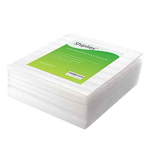 """Foam Tech Insulation (Shiplies Cushion Foam Sheet Foam Wrap Cushioning for Moving Storage Packing and Shipping Supplies 12"""" x 12""""(50 Count))"""