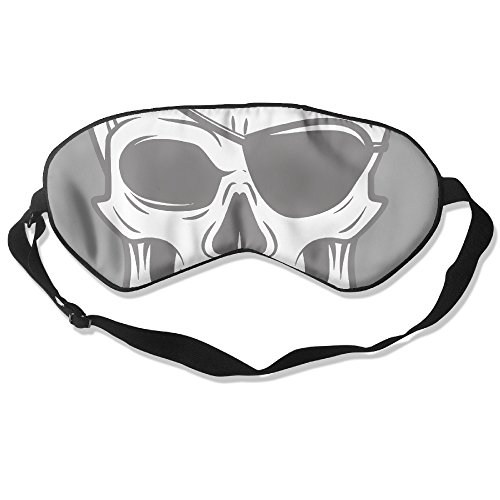 Kill Bill Costume Patches (KOLP Skull Tattoo Illustration Super-smooth Eye Mask Natural Silk Sleeping Mask Soft Blindfold Eyeshade Comfortable Eyepatch With Adjustable Head Strap For Women Men And Youth)
