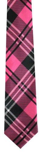 Motif Men's Skinny rose cravate Noir Tie Tartan skinny Tie69 1xqOBpx