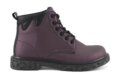 Bordeaux Femme 1736 Noires Fh912 Noir De Caf Lacets Chaussures Bottes I16 Amphibies fApWqng