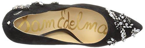 Sam Edelman Womens Hazel 3 Dress Pump Black Jeweled Suede