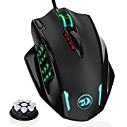 #LightningDeal Redragon M908 Impact RGB LED MMO Mouse with Side Buttons Optical Wired Gaming Mouse with 12,400DPI, High Precision, 19 Programmable Mouse Buttons
