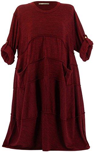 Charleselie94® - Vestido - Túnica - para mujer granate