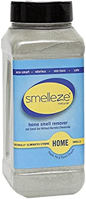 SMELLEZE Natural Room/House Smell Remover Deodorizer: 2 lb Powders Get Home Smell Out Fast