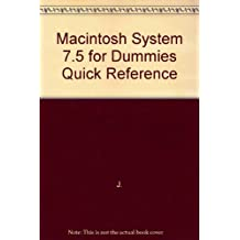 Macintosh System 7.5 for Dummies: Quick Reference