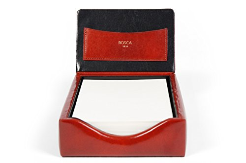Bosca Old Leather Flip Top Memo Box (Amber) by Bosca (Image #2)