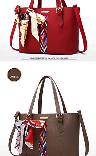 fourre en sacs femmes Red sacs grand sac bandoulière à sac dames cuir Mode femme sac PU tout Sentsreny main messager à à main x7ZzwWY