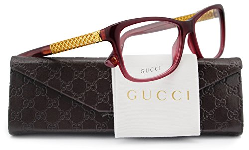 GUCCI GG3695 Eyeglasses Burgundy (03JA) GG 3695 3JA FR 54mm Authentic