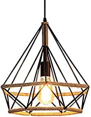 Retro industriële henneptouw kroonluchter ijzer hennep touw hanger plafond hanglamp kaars design binnenverlichting woonkamer verlichting eetkamer restaurant lamp E27
