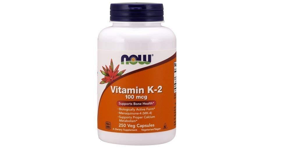 Now Vitamin K-2 100 mcg,250 Veg Capsules