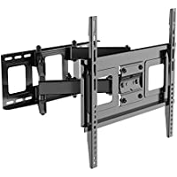 FLEXIMOUNTS A11 Full motion Swivel Tilt HD 32-50 TV wall mount Bracket for Most including LED/LCD, Black