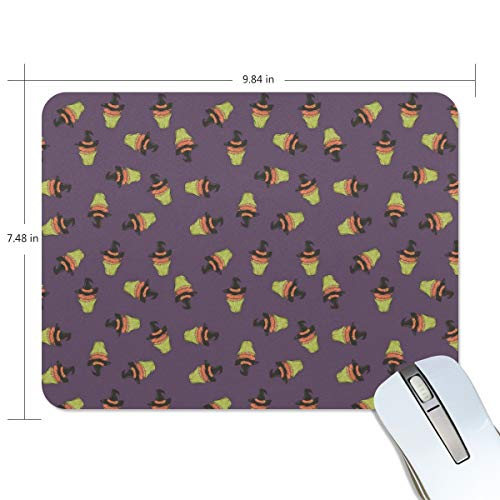 (Halloween Witch Hat Cake Purple Extended Gaming Mouse Pad Large Non-Slip Water-Resistant Rubber Base Cloth Computer Mouse Mat, Premium-Textured Mousepad for Laptop, Computer & PC)
