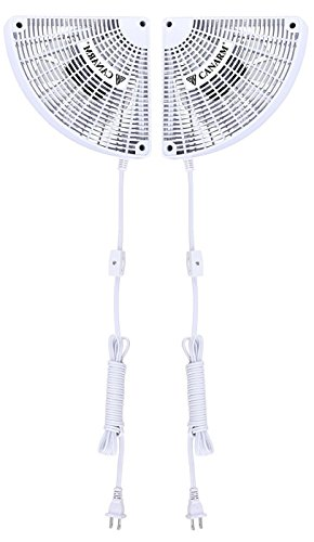 "Canarm DF7 Duct Fan with Pull Chain, 7"" x 7"" x 3.5"", White"