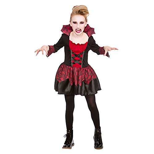 [(L) (8-10) Girls Little Vampires Costume for Halloween Fancy Dress Outfit by Partypackage Ltd] (Little Vampire Costume)