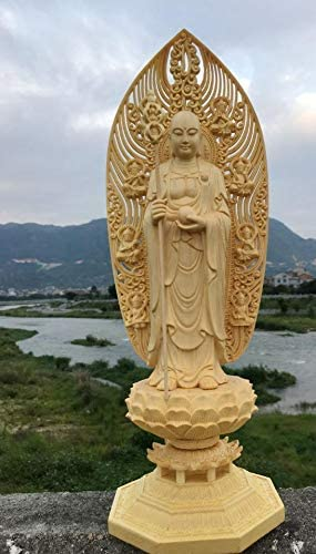 MD068極上の木彫極上質 品 仏教美術 精密細工 地蔵王菩薩像`仏師で仕上げ品 コレクション。
