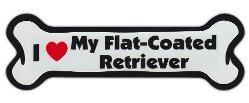 New Flat Coated Retriever - Dog Bone Shaped Car Magnets: I LOVE MY FLAT COATED RETRIEVER
