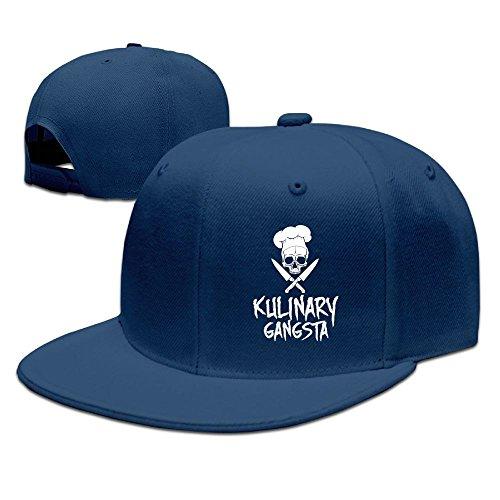 BDHESR Skull Chef Cooking Skull Snapback Hats For Men Funny Hip-hop Flat Bill Hats Fitted Hats For Men by BDHESR (Image #1)