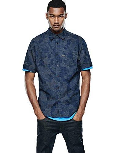 G-Star Raw Men's Tacoma Short Sleeve Shirt with Pockets, Medium Aged, Small