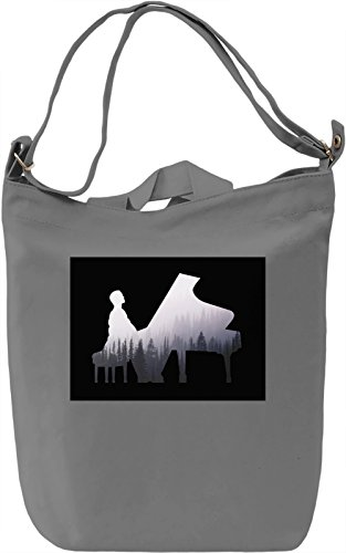 Piano guy Borsa Giornaliera Canvas Canvas Day Bag| 100% Premium Cotton Canvas| DTG Printing|