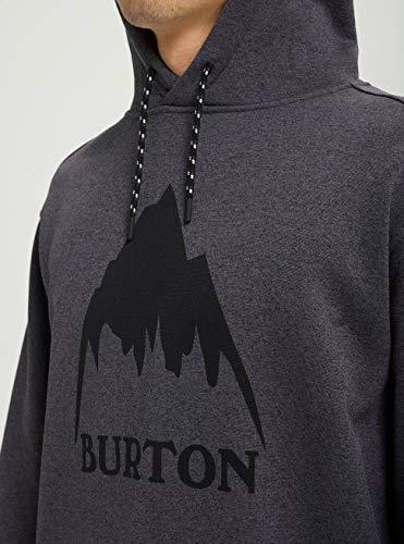 Black Felpa Burton Uomo Cappuccio true Con Heather Oak True YxxPqa